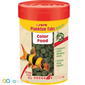 sera Plankton Tabs Nature 100mL Natural Color Enhacing Fish Food Tablets