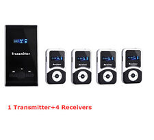 New Pro Wireless tour guide system,translation meeting visit church &4 receivers