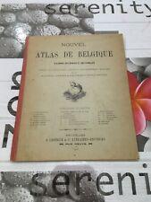 Ancien «Nouvel Atlas De Belgique» 1913
