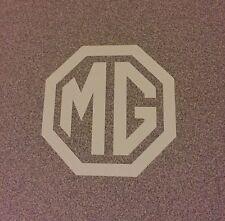 "MG Emblem Logo Decal Sticker Midget WHITE 2"""