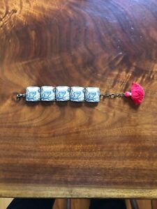 Mama's Little Babies bracelet blue floral