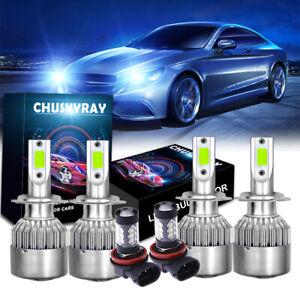 H7 H7 H11 Combo LED Bulbs For Car Headlight High Low Beam Fog Light Kit 8000K