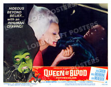 QUEEN OF BLOOD LOBBY SCENE CARD # 3 POSTER 1966 FLORENCE MARLEY SPACE VAMPIRE