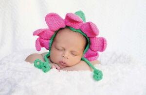 Mud Pie Little Star Newborn Photography Prop Flower Knit Hat