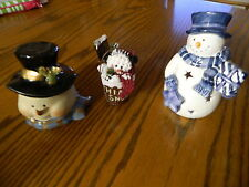 3 Piece lot of snowmen- All are different sizes