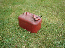 Old Vintage Classic Red Petrol Can Tank