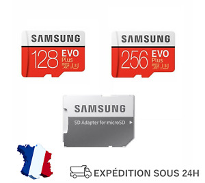 Carte Mémoire Micro SD SDHC Class 10 Samsung Evo Plus 128 256 Go