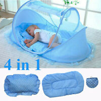 Folding Infant Baby Mosquito Net Tent Travel Instant Crib Mattress Bed Canopy WW