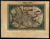 Belgium Artois Comitatus 1628 Mercator beautiful engraved map w early hand color