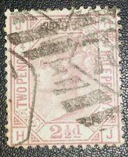Duzik: Gb Qv Sg141, 2 1/2d. mauve H-J Pl.4 used stamp (No.735) *