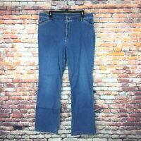 J.Jill Womens Size 16 Stretch Tried & True Boot Cut Medium Wash Denim Jeans