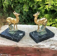 Retro Vintage Deer Art Deco Stunning Animal  Wild Figurine Book Ends *