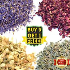 Edible Dried Flowers Petals 62 Types! Natural Wedding Confetti Tea Crafts Soap
