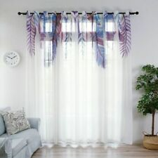 Window Curtains Tulle Sheer Leaves Patterned Home Fabric Drapes Panels Decor New