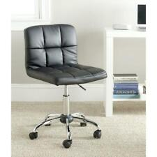 Modern Black Faux Leather Cushion Home Office Desk Chair