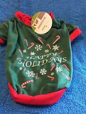 Happy Paws Pet Clothing Happy Holidays Size Small  New with Tag