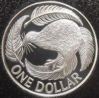 New Zealand - 1990 - Silver Proof  Dollar Coin- Kiwi Proof