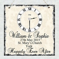 Personalised Wedding Anniversary Plaque Bride Groom Marriage Chic Gift Present