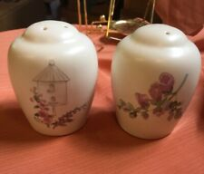 PFALTZGRAFF Cape May Salt & Pepper Shakers Birdhouse Pink Floral Stoneware