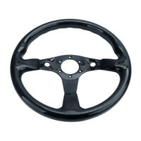350mm 6 Bolts Carbon Fiber Steering Wheel Universal Fit Not Include Hub Adapter