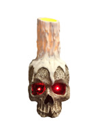 Scary Light Up Halloween Skull Candle
