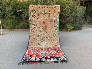 Vintage azilal moroccan berber boujaad handmade Carpet Vintage Rug 6″x8″ feet