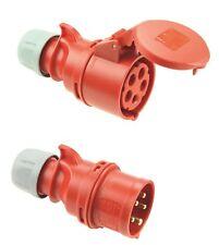 PCE GRIP TT IP44 CEE 16A 5p rot SET Stecker und Kupplung 5polig