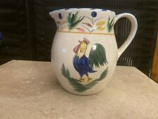 """Rooster Country Kitchen Farm Decor Chicken Water Pitcher 6 1/2 """" Tall"""