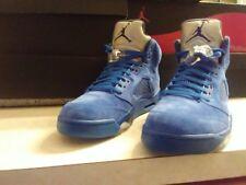 Men's Air Jordan Retro suede bule 5's 9.5