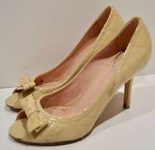 Christian Dior Nude Beige in pelle dettagli cucitura punta aperta scarpe Sandali Stiletto