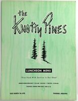 1961 Original Vintage Lunch Menu THE KNOTTY PINES Restaurant Phoenix Arizona