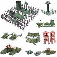 12 Poses Army Men Figures Military Toy Plastic Soldiers  Aircraft Boy Gifts