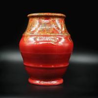 Crown Ducal Ware England #235 Burgundy red Vase Vintage Home Decor