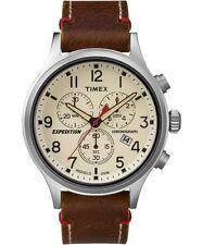 Timex Men's Expedition Scout Chrono Leather Slip-Thru Strap Watch TW4B04300