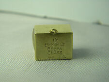 "Vtg ""In Emergency Break Glass"" 14 Kt Yellow Gold Signed A.C. Charm Dollar Bill"