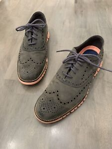 Mens Cole Haan Zerogrand Wing Oxford - Magnet/Sunset, Size 9.5 M US [C29672]