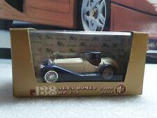 BRUMM MODELS -  1932 ALFA ROMEO 2300 WHITE/BLUE - 1/43 scale model car - R138