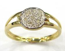 SYJEWELLERY 9CT SOLID YELLOW GOLD 7 NATURAL DIAMONDS RING  SIZE N   R1378
