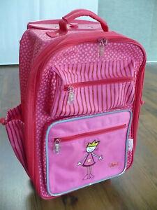 "Sigikid ""Prinzessin"" Trolley Kindertrolley Kinderkoffer, pink, 40 x 30 x 17 cm"