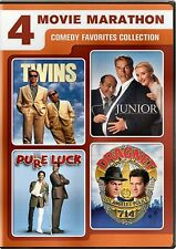 NEW DVD - TWINS + JUNIOR + PURE LUCK + DRAGNET - TOM HANKS , DANNY DeVITO
