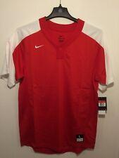 Nike Men's Baseball Jersey Ss Red/White Dri-Fit Nwt Size L Style #818541