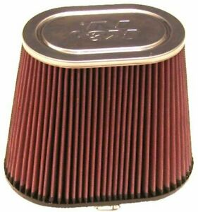 K&N Universal Clamp-On Engine Air Filter: Washable: Oval Straight; 4 in (102...