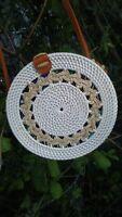 Handwoven Bali Round Rattan Bag Button Clip Circle US stock