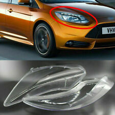 Pair Clear Headlight Lens Cover Lampshade fit for Ford Focus 2012-2013 CAO
