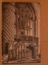 Unposted Postcard Durham Cathedral, The Bishop's Throne