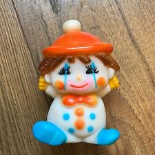 Vintage The First Years Squeaker Toy Rubber Smiling Clown Squeaky