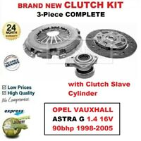 FOR OPEL VAUXHALL ASTRA G 1.4 16V 90bhp 1998-2005 BRAND NEW 3PC CLUTCH KIT + CSC