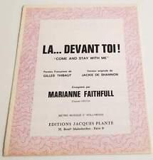 Partition vintage sheet music MARIANNE FAITHFULL : Là Devant Toi * 60's