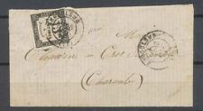 1871 Lettre TAXE 15c noir LITHO n° 4 obl. C 17 Angoulême. Rare Cote 1 500€ X4545