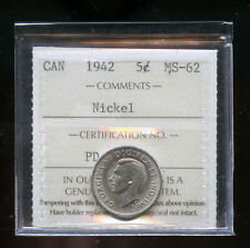 1942 Canada 5 Cents ICCS Certified MS62 DCB179